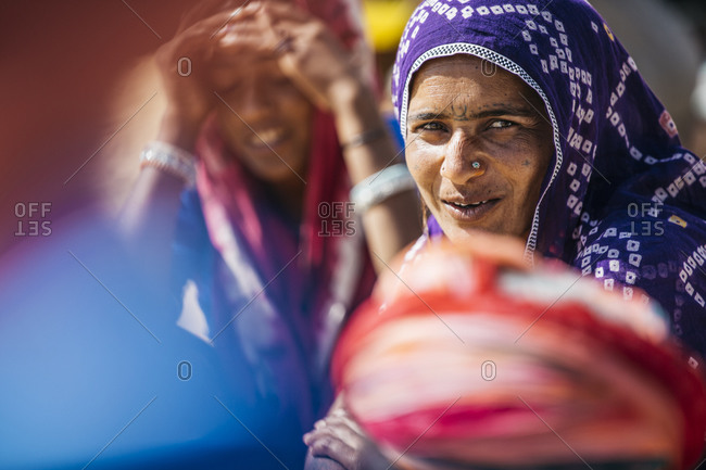 February 4, 2015: Elderly Indian woman with nose ring