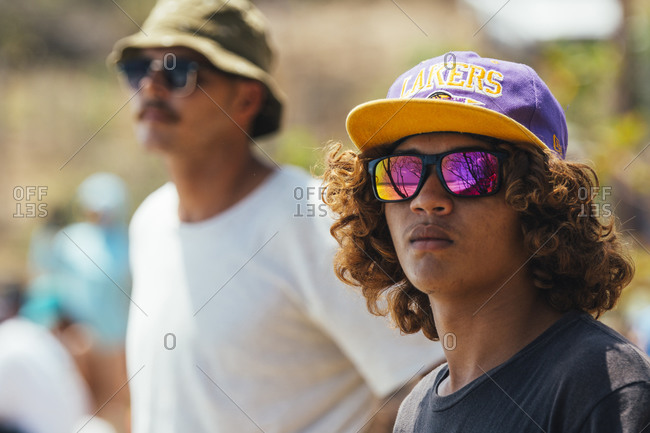 May 3, 2015: Spectators in Nicaragua watching surf competition