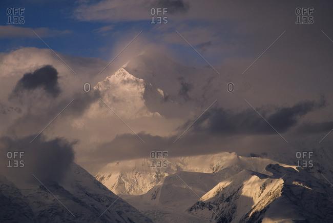 Peak of Denali in the clouds