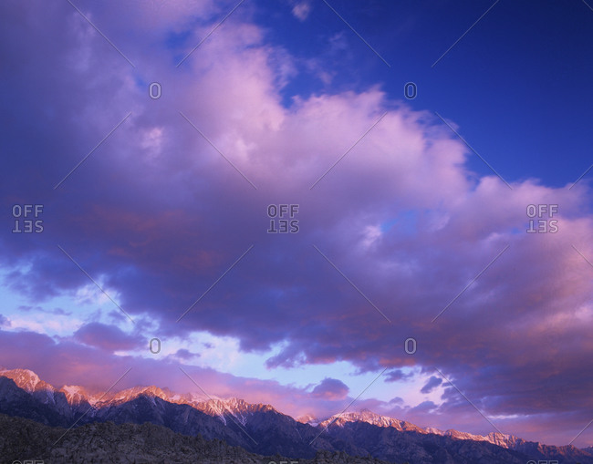 Sierra Mountains at sunrise - Offset