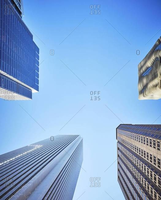 Chicago, Illinois, USA - September 1, 2015: Aon Center, Aqua Tower, Chicago
