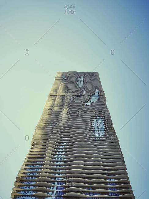 Chicago, Illinois, USA - September 1, 2015: High-rise residential building, Aqua Tower, Chicago