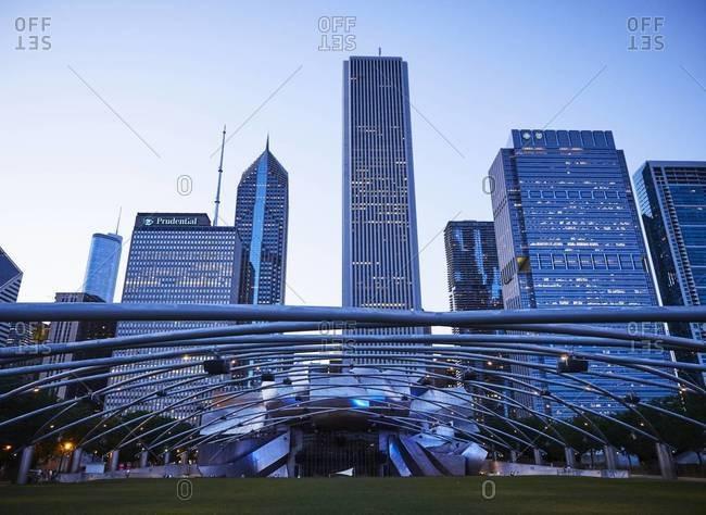 Chicago, Illinois, USA - September 1, 2015: High-rise building, facades, Chicago