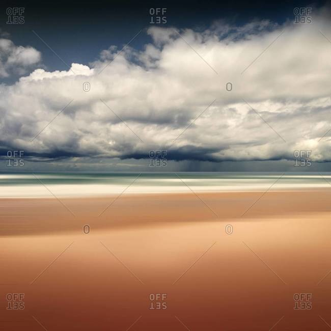 Beach and rain clouds, Contis-Plage