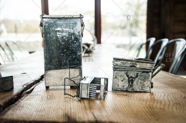 Antique metal pieces
