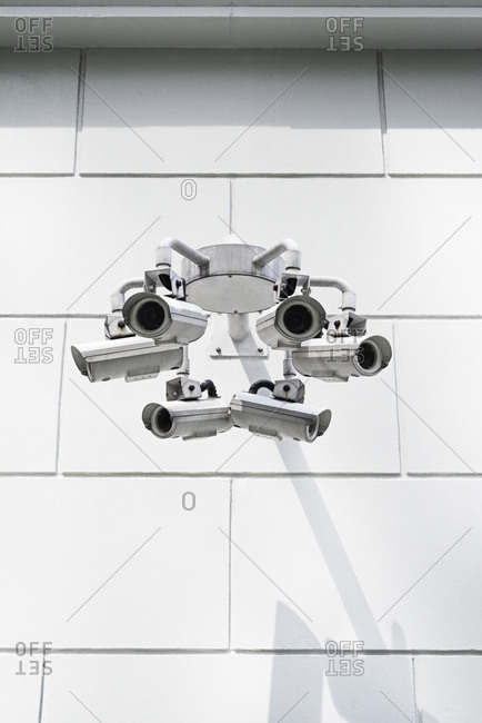 Multiple security cameras