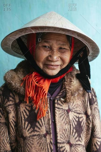 Ho Chi Minh, Vietnam - January 19, 2014: An old Vietnamese woman