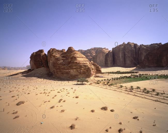 Rock Formations and Landscape, Al'Ula, Saudi Arabia
