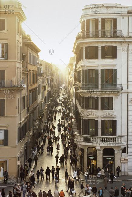 Rome, Italy - March 5, 2007: Roman city street, Italy