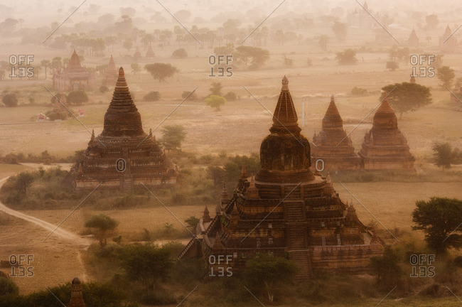 Aerial View of Bagan, Myanmar