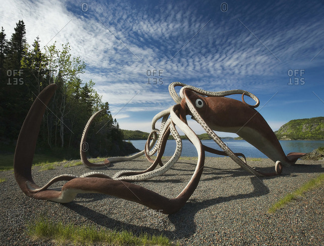 Giant Squid Sculpture, Glover's Harbour, Newfoundland and Labrador, Canada
