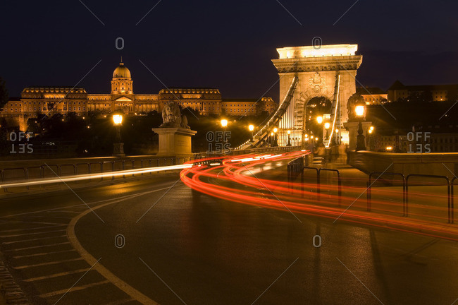 The Chain Bridge and Buda Castle, Budapest, Hungary