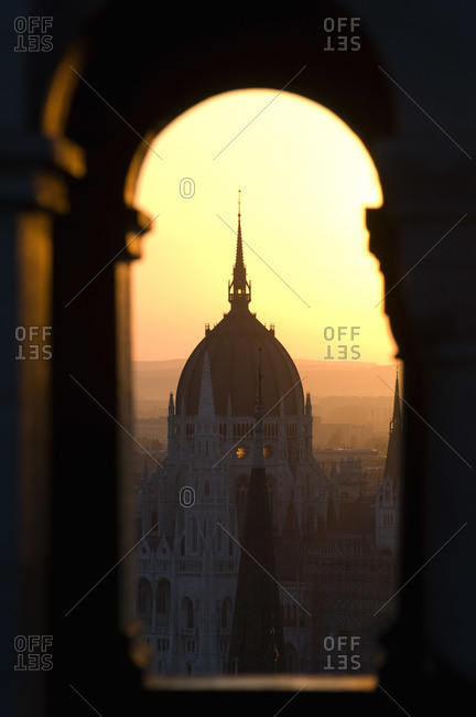 View of Hungarian Parliament Building From Buda Castle, Budapest, Hungary