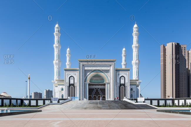 Exterior of mosque in Astana, Kazakhstan