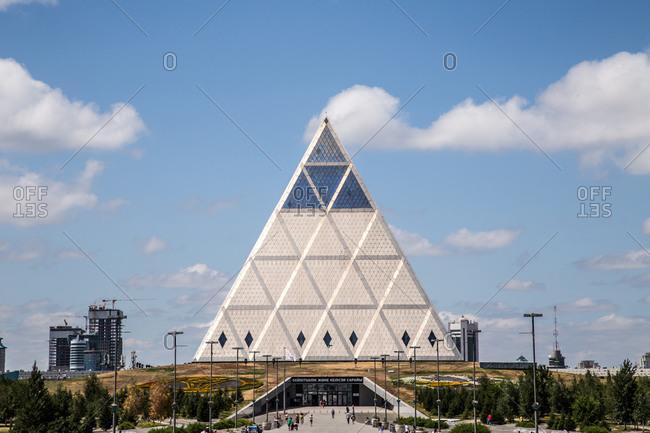 Astana, Kazakhstan - July 19, 2015: Palace of Peace and Reconciliation