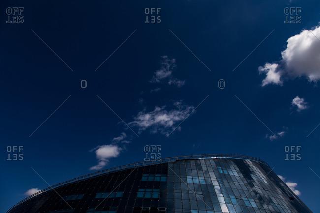 Astana, Kazakhstan - July 19, 2015: Top of the Shabyt Palace of Art at the Kazakhstan Arts University