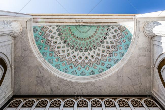 Astana, Kazakhstan - July 19, 2015: Entrance of mosque
