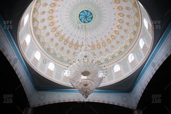 Astana, Kazakhstan - July 19, 2015: Interior dome of mosque