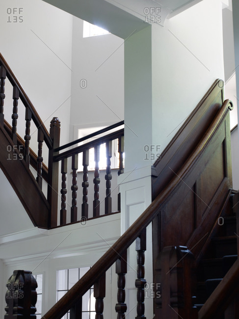 Traditional stairs in modern home