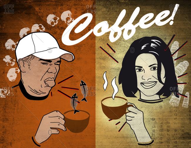 Good and bad tasting coffee