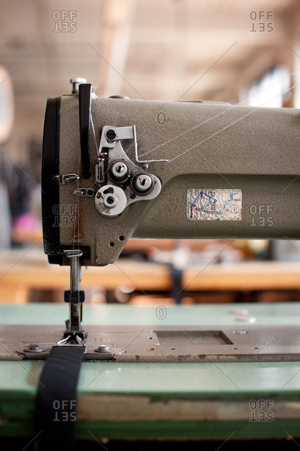 An industrial sewing machine