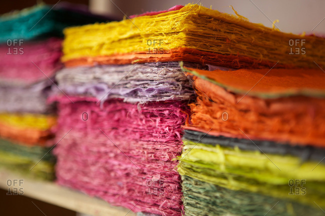 Paper made by hand in Colegiales, Buenos Aires, Argentina