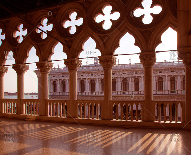 The Doge's Palace at sunset in Venice, Italy