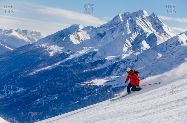 Powder skier in St. Anton, Austria