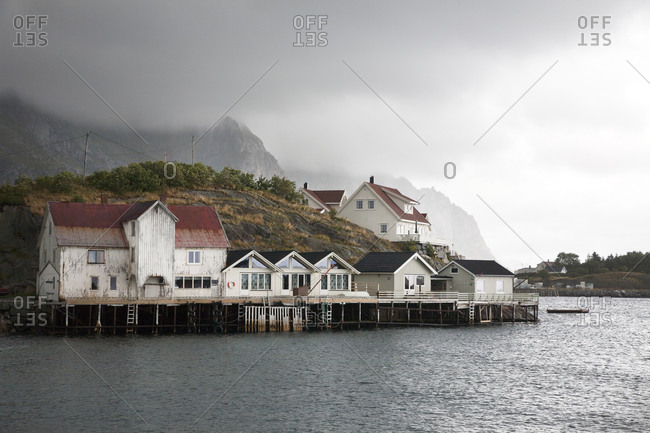 Seaside village in the Lofoten Islands, Norway