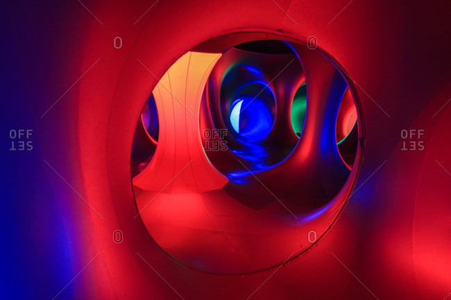 Raleigh, North Carolina, USA - May 21, 2011: Inside Amococo, a large inflatable sculpture, at a festival