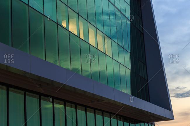 Raleigh, North Carolina, USA - May 21, 2011: Windows of the James B. Hunt Jr. Library at North Carolina State University