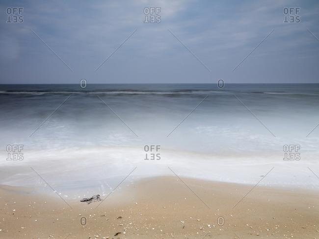 Empty beach in Falkenberg