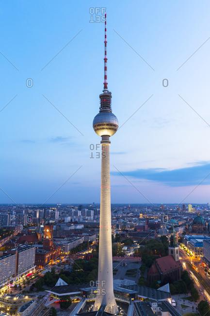 Cityscape at dusk, Berlin