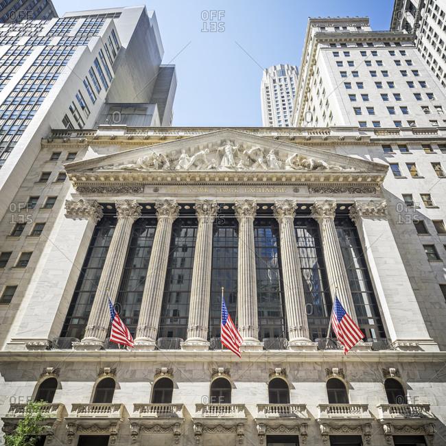 New York, NY, USA - August 31, 2015: New York stock Exchange building, New York City