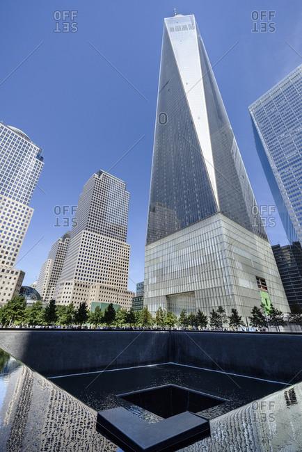 New York, NY, USA - August 31, 2015: One World Trade Center, New York City, USA