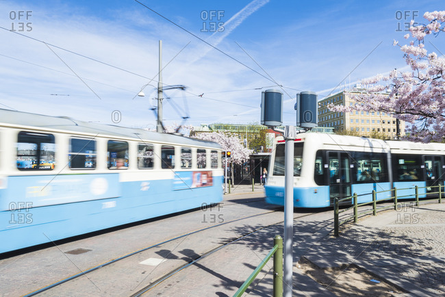 Blue trams, Gothenburg