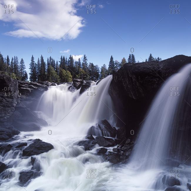 Waterfall in Ristafallet