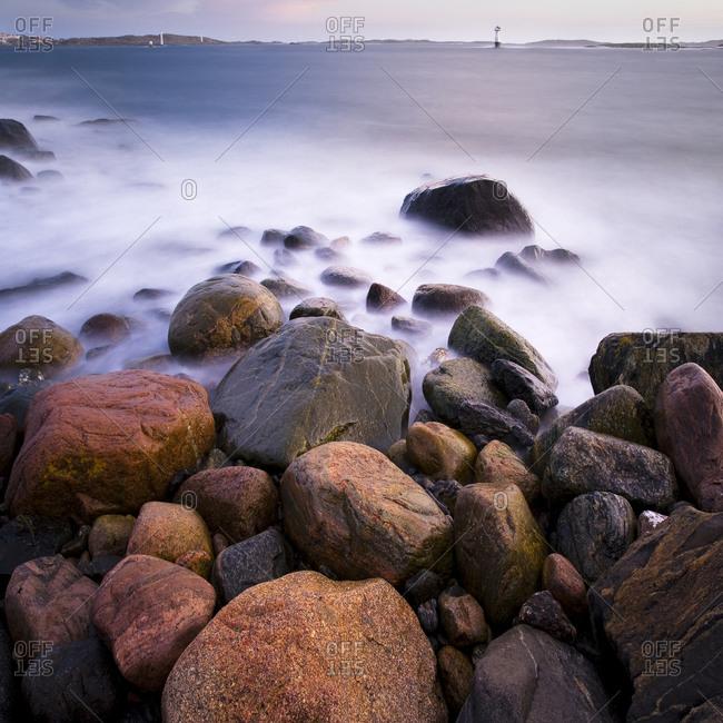 Rocky coast at dusk - Offset