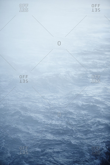Water surface in fog