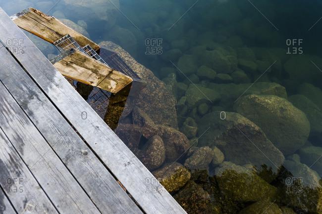 Rocks in water, Ostergotland - Offset