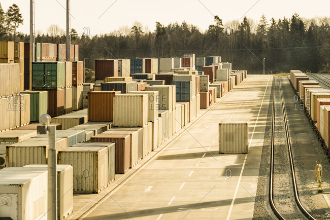Containers at freight yard