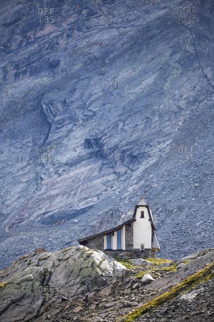 Church at Oeztal Glacier Road, Soelden, Austria