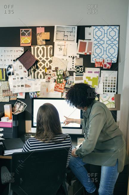 Businesswomen working on computer in an office