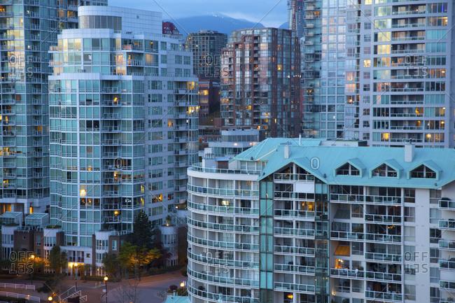 Vancouver, Canada - April 6,2015: West end condos in Vancouver