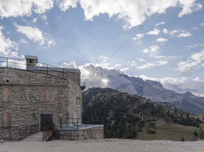 Fortress on a mountaintop near Toblach, Italy