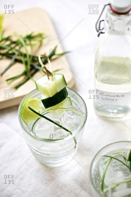 Cucumber vodka cocktail