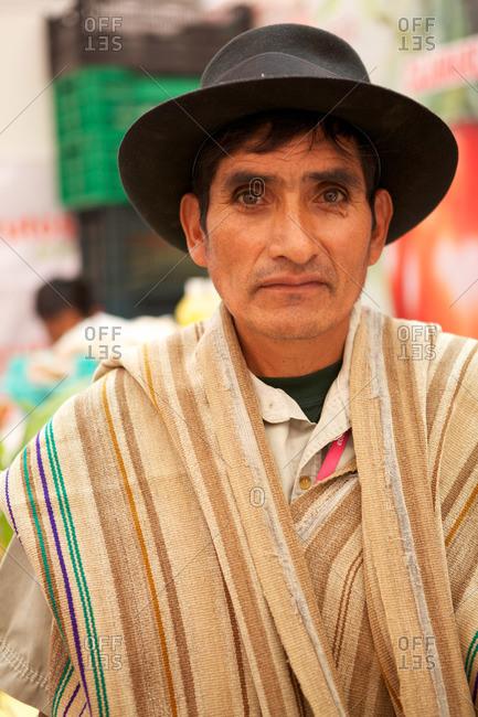 Lima, Peru - September 14, 2011: Portrait of a Peruvian man