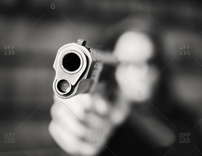 Muzzle of a gun