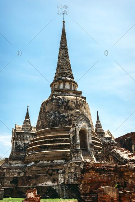 View to temple Wat Phra Si Sanphet, Ayutthaya