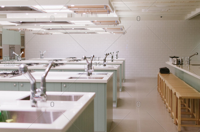 Cooking space in a culinary school